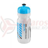 Bidonas Raceone XR1 600ml transparent/alb logo albastru/gri