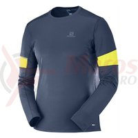 Bluza alergare Salomon Agile LS Tee night sky barbati