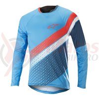 Bluza Alpinestars Predator LS Jersey bright blue/poseidon orange