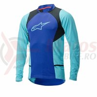 Bluza Alpinestars Drop 2 long Sleeve Jersey blue/stratos/aqua marime L
