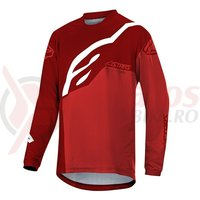 Bluza Alpinestars Youth Racer Factory LS burgundy red/white