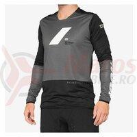 Bluza ciclism 100% R-CORE X, Charcoal/Black