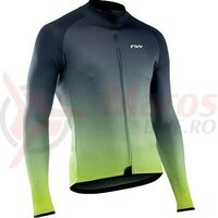 Bluza ciclism Blade 3 long, anthracite/yellow fluo