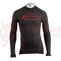 Bluza de corp de iarna Northwave Evolution Base negru/rosu