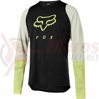 Bluza Defend LS foxhead jersey [blk/ylw]