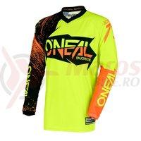 Bluza O'neal Element Burnout negru/portocali/galben neon