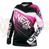 Bluza O'Neal Element Raceware dama negru/roz