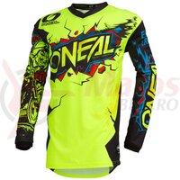 Bluza O'Neal Element Villain, galben-neon/multicolor