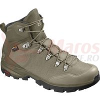 Bocanci drumetie Salomon Outback 500 Gore-Tex burnt oliv/mermaid barbati