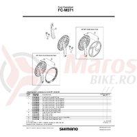 Brat pedalier Shimano FC-M371 stanga 175mm negru