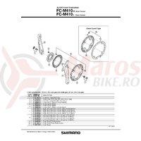 Brat pedalier Shimano FC-M410-S stanga 175mm argintiu