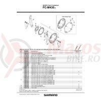 Brat pedalier Shimano FC-M430-8 170mm stanga negru