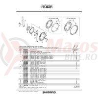 Brat pedalier Shimano FC-M431 stanga 170mm negru