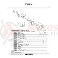 Brat pedalier Shimano FC-M970 stanga 170mm