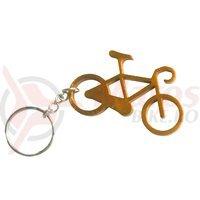 Breloc chei bicicleta auriu