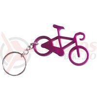 Breloc chei bicicleta mov