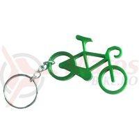 Breloc chei bicicleta verde
