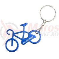 Breloc chei Messingschlager bicicleta albastru