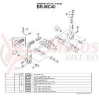 Burduf Shimano BR-MC40 #8BP 1400