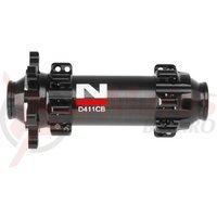 Butuc fata carbon Novatec D411CB 3in1 28h disc negru
