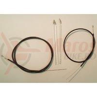Cablu + Camasa de frana Shimano Racing 1250x1400mm Neagra