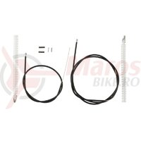 Cablu/Camasa pt .frana Shimano road BC-1051 fata & spate cabluri 1250/1400mm camasa neagra 670/800mm