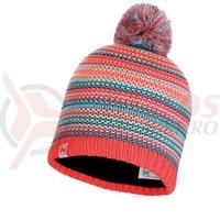 Caciula Buff Junior Knitted&Polar hat amity coral pink