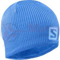 Caciula ski unisex Salomon Logo Beanie Albastru