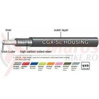 Camasa bowden frana Jagwire (60Y0035) CGX-Slick-Lube, carbon argintiu, diametru 5mm