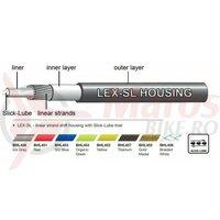 Camasa bowden schimbator impletita Jagwire (BHL457) LEX-SL Slick-Lube, titan, diametru 4,5mm 1m