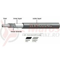 Camasa bowden schimbator Jagwire (90A9769-1) LEX, gri, diametru 4mm