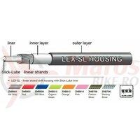 Camasa bowden schimbator Jagwire (ZHB803) LEX-SL Slick-Lube, rosie, diametru 4mm 10 metri