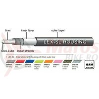 Camasa bowden schimbator Jagwire (ZHB813) LEX-SL Slick-Lube, verde, diametru 4mm