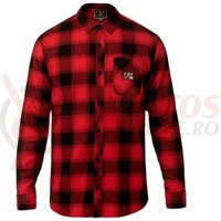 Camasa Fox Longview Ltwt Flannel rio red