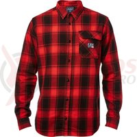 Camasa Fox Voyd Flannel black/red