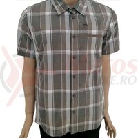 Camasa Shimano transit check button up short sleeve morel