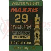 Camera 29X1.9/2.35 FV48 Maxxis Welterweight 0.9mm Presta