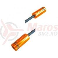 Cap bowden frana cu capat iesire plastic(10mm) Jagwire al, portocaliu diametru 5mm