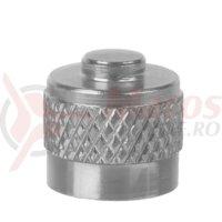 Cap valva M-Wave aluminiu silver anodizat -AV