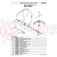 Capac butuc Shimano WH-7800-R