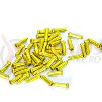 Capac cablu aluminiu 2.4mm HJ-D1001, gold 1 buc