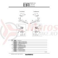 Capac dreapta pentru Shimano SL-M751-S