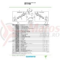 Capac exterior maneta Shimano ST-7700 stanga
