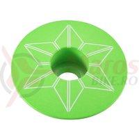 Capac furca Supacaz Star - verde neon (powder coated)