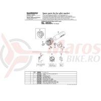 Capac indicator Shimano SL-3S35-E & suruburi M2.5x7