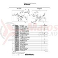 Capac inferior Shimano ST-M960 dreapta & suruburi de fixare