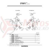 Capac inferior Shimano ST-M975 stanga & suruburi
