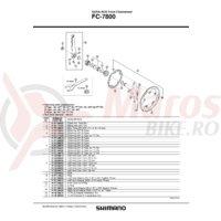 Capac interior Shimano FC-7800 & O-Ring A
