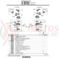 Capac maneta de schimbator Shimano SL-M7000-11R dreapta fara indicator