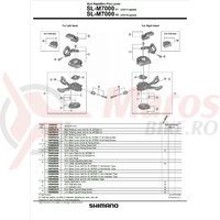 Capac maneta de schimbator Shimano SL-M7000 stanga cu indicator